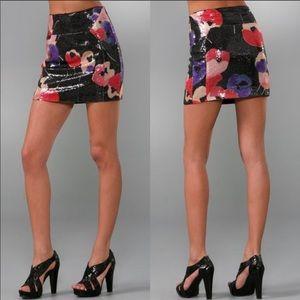 [DVF] Sequin Floral Mini Skirt